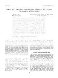 "(PDF) <b>Linking</b> ""<b>Big</b>"" Personality Traits to Anxiety, Depressive, and ..."