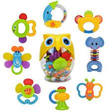Teether Rattle <b>Set</b> Baby Toy - Happytime 2019 <b>New Design 8pcs</b> ...