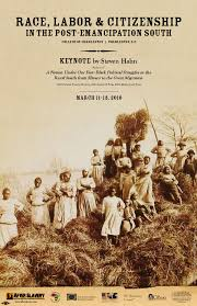reconstruction after slavery charleston conf poster