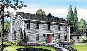 House Plan at FamilyHomePlans comColonial Saltbox House Plan Elevation
