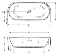Купить <b>акриловую ванну Riho Desire</b> 184x84 BD07 пристенная в ...