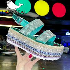 <b>LazySeal Platform Shoes</b> Sandals <b>Women</b> Summer Buckle Flat ...