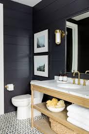 washstand bathroom pine: black walls in the powder bath studio mcgee