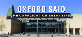 oxford said mba essay tips deadlines