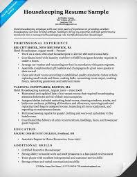 Resume Examples Housekeeper Sample Resume Housekeeping Resume     Perfect Resume Example Resume And Cover Letter