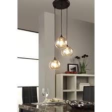 uptown 3 light amber globe cluster pendant amber pendant lighting