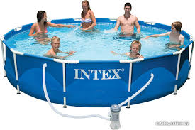 <b>Intex Metal Frame 366х76</b> (56996/28212) каркасный бассейн ...