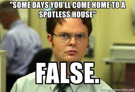 "some days you'll come home to a spotless house"" False. - Dwight ... via Relatably.com"
