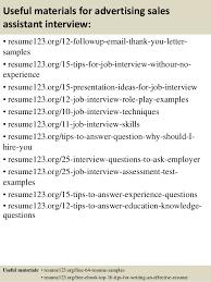 sales advertising resume advertising assistant resume
