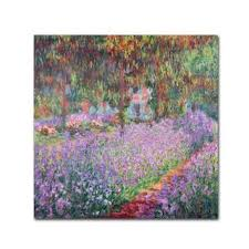 Shop Claude Monet 'The Artist's Garden at <b>Giverny</b>' <b>Canvas</b> Art ...
