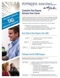 bachelor of science in management pepperdine university access the flyer