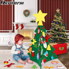 OurWarm <b>DIY Felt Christmas</b> Tree New Year Gifts <b>Kids</b> Toys Artificial ...