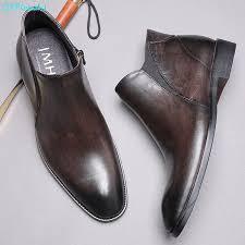 <b>QYFCIOUFU</b> New High Quality <b>Luxury Brand</b> Men Boots <b>Genuine</b> ...