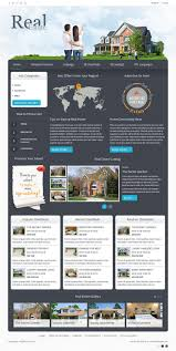 real estate product directory joomla template joomla monster dj real estate02 dark1 color version