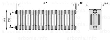 <b>Радиатор ARBONIA 5018</b>/18 №12 цвет белый глянец (RAL-9016 ...