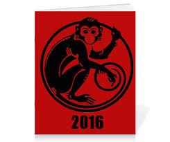 "Тетрадь на скрепке ""2016 <b>год</b> - <b>год</b> Красной <b>Обезьяны</b>"" #1007700 ..."