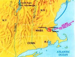 「battle fort ticonderoga 1776 map」の画像検索結果