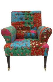 rugs usa boho chic floral patchwork arm chair multi boho chic furniture