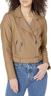 <b>Levi's</b> womens <b>Faux Leather</b> Belted Motorcycle Jacket (Standard ...