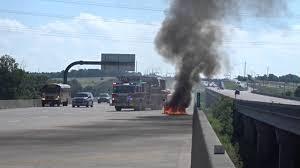 car fire on in garland  car fire on 190 in garland 21 2016