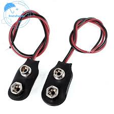 <b>2pcs 15cm Wire Cable</b> 9V 9 Volt Battery Clip Connector I Type ...