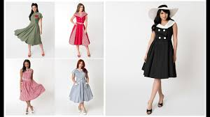 <b>Vintage</b> 50's Style Casual Dress Outfits Design Ideas <b>2019</b>-20 ...