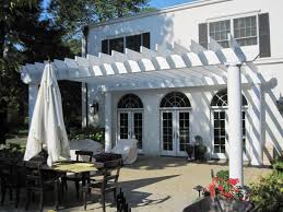covered patio freedom properties: this photo shows one of the pergolas the homeowner chose