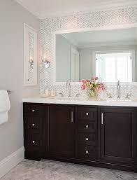 geometric marble bathroom backsplash transitional bathroom bathroom recessed lighting ideas espresso