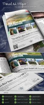 top ideas about print ad templates adobe travel print ad flyer template v1