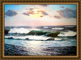Картина в багетной <b>раме</b> Морской <b>рассвет</b> 300х400мм №371 ...