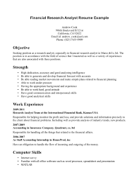 objective financial research analyst resume example data analyst objective financial research analyst resume example