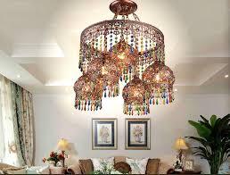 crystal pendant lamps lighting fixtures 41l bohemian style semicircel iron ceiling pendant lamps bohemian lighting