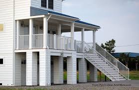 Beach Home Plans   Coastal Houses   Front Porch Pictures   Beach    Beach home   elevated front porch