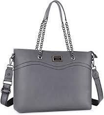 MOSISO 15.6 inch PU Leather Women Laptop Tote ... - Amazon.com