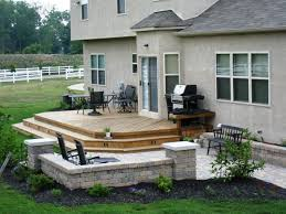 patio design ideas small wooden backyard deck idea patio design deck and patio ideas pictures to pin