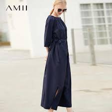 <b>Amii Minimalist Cotton Dress</b> Women 2019 Spring Summer 100 ...