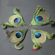 NEW! <b>50pcs</b>/<b>lot</b>! Hand trimmed <b>natural</b> peacock eye feathers craft ...
