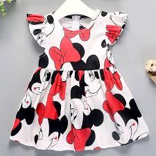 Girls Dress 2019 Summer New Dress Girl Cartoon Pattern Cotton ...