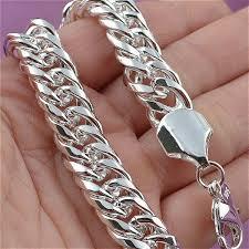 Mens <b>Jewelry Set Thick</b> Tight 925 Solid Sterling <b>Silver</b> Bracelet | Wish