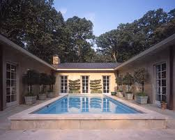 Types u shaped house plans   courtyard pool ideas about fence around pool   pool  Shaped House Home Design