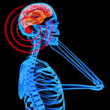 Picture of irradiated skeleton holding a mobile phone showing radiation