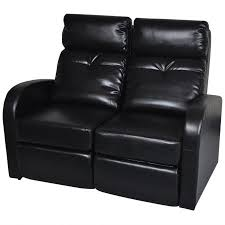 Anself Artificial Leather <b>Home Cinema Recliner Reclining</b> Sofa 2 ...