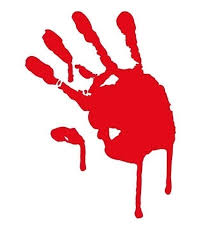 Image result for red hand prints