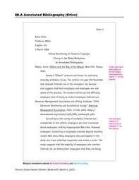 Annotated Bibliography Template Mla   Best Business Template