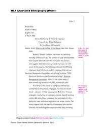 annotated bibliography mla format   LetterHead Template Sample sample annotation Little  Brown handbook