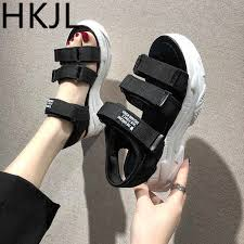 <b>HKJL</b> 2019 <b>summer</b> new <b>women's shoes</b> outdoor casual platform flat ...