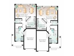 Eplans New American House Plan   American Style Duplex Home      Level