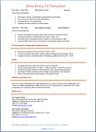 data entry cv template tips and cv plaza data entry cv template 2