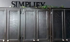 Paint Grade Cabinets Kitchen Cabinet Painted With Black Color Ideas Painting Oak