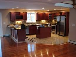 Hardwood Or Tile In Kitchen Great Wooden Kitchen Floor Tile Home Designs